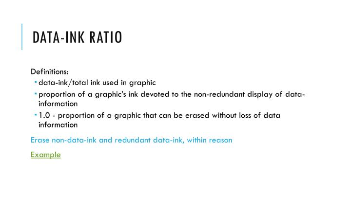 Data-ink ratio