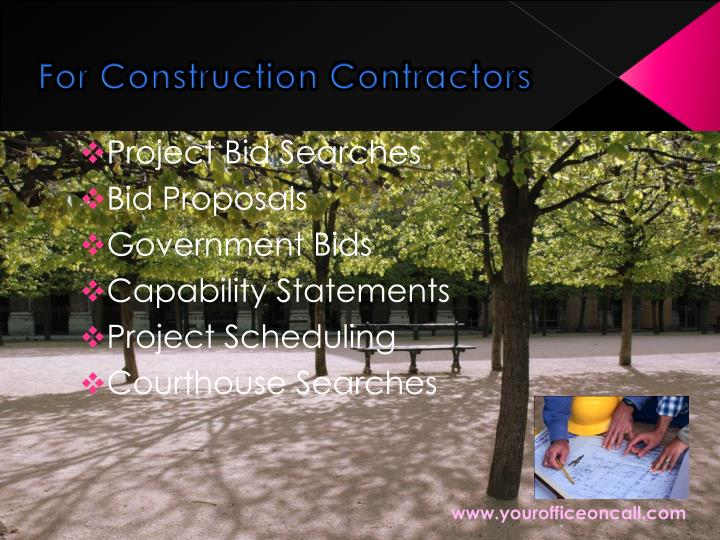 For Construction Contractors