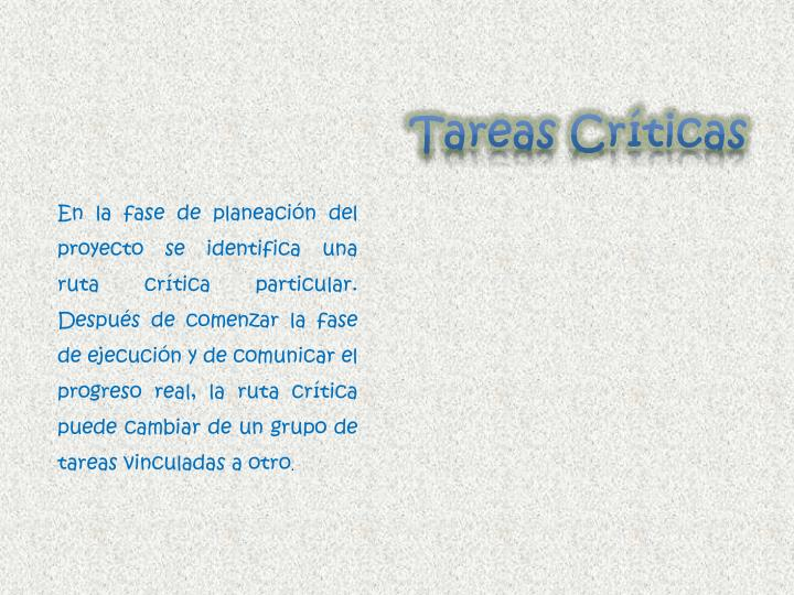 Tareas Críticas