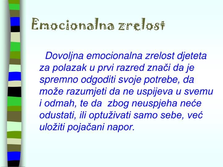Emocionalna zrelost