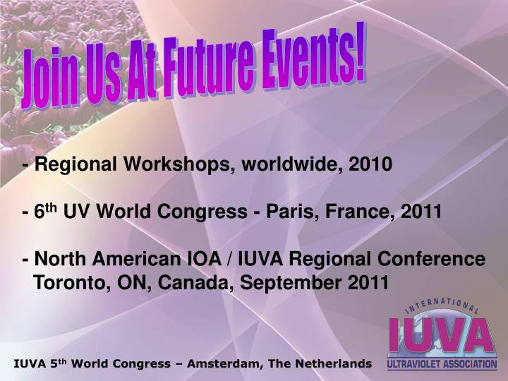 Join Us At Future Events!