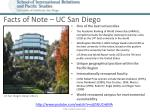 facts of note uc san diego