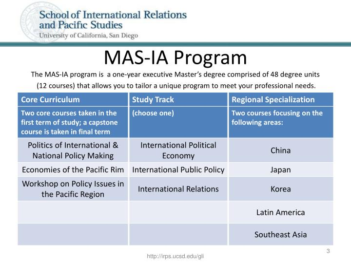 MAS-IA Program