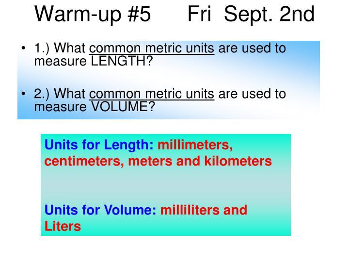 Warm-up #5      Fri  Sept. 2nd
