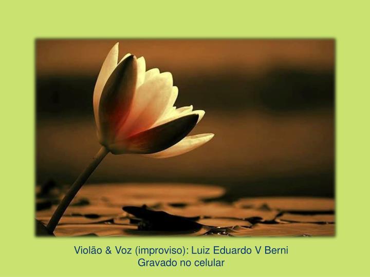 Violão & Voz (improviso): Luiz Eduardo V Berni