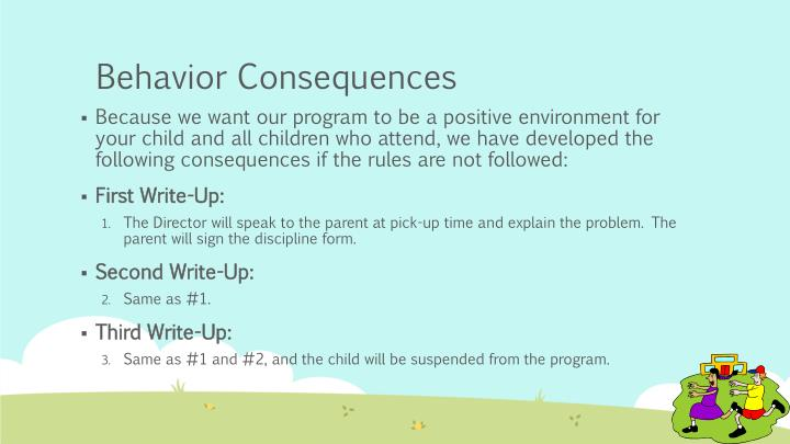 Behavior Consequences
