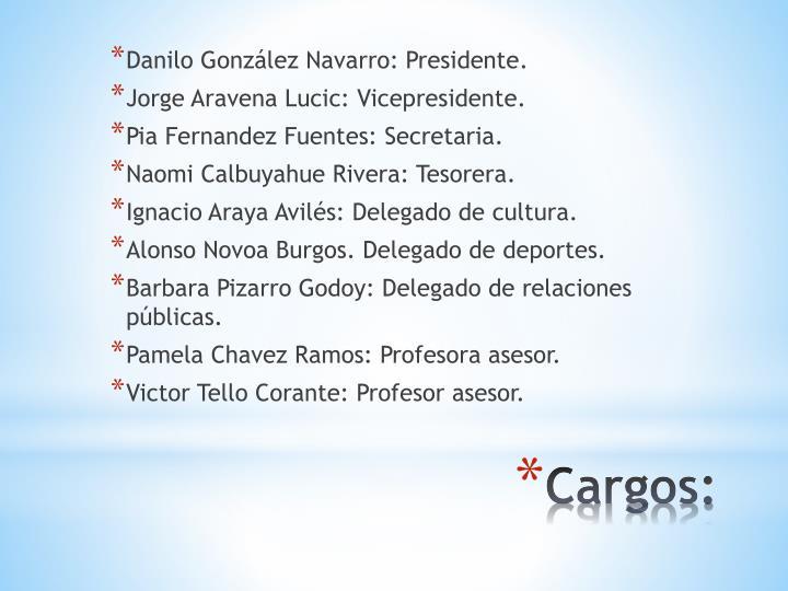 Danilo González Navarro: Presidente