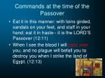 commands at the time of the passover2