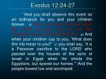exodus 12 24 27