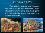 exodus 14 28