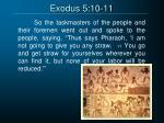 exodus 5 10 11