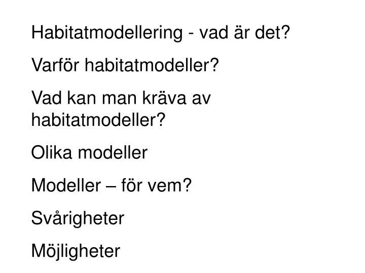 Habitatmodellering - vad är det?