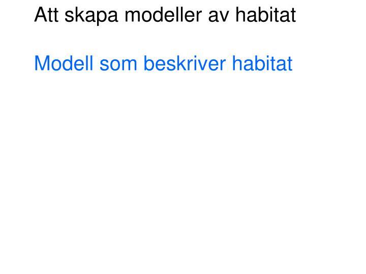 Att skapa modeller av habitat