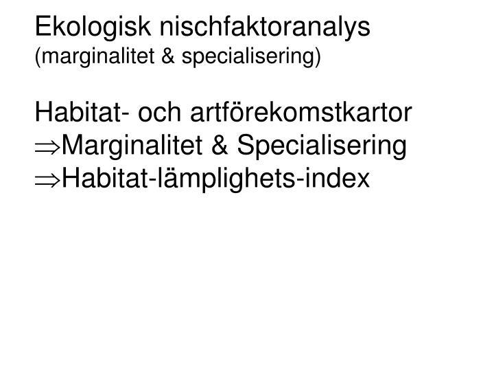 Ekologisk nischfaktoranalys