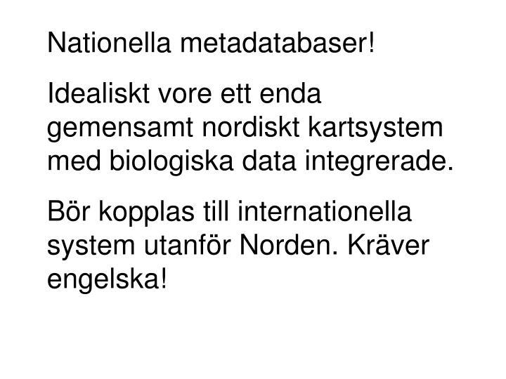 Nationella metadatabaser!