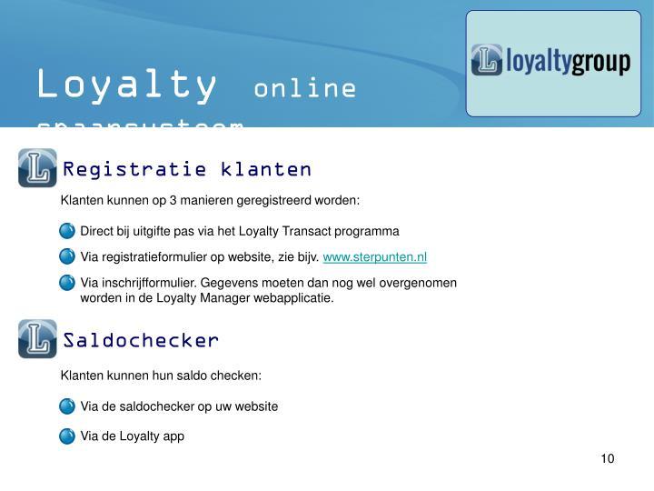 Direct bij uitgifte pas via het Loyalty Transact programma