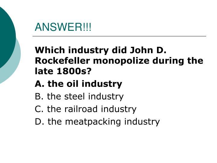 ANSWER!!!