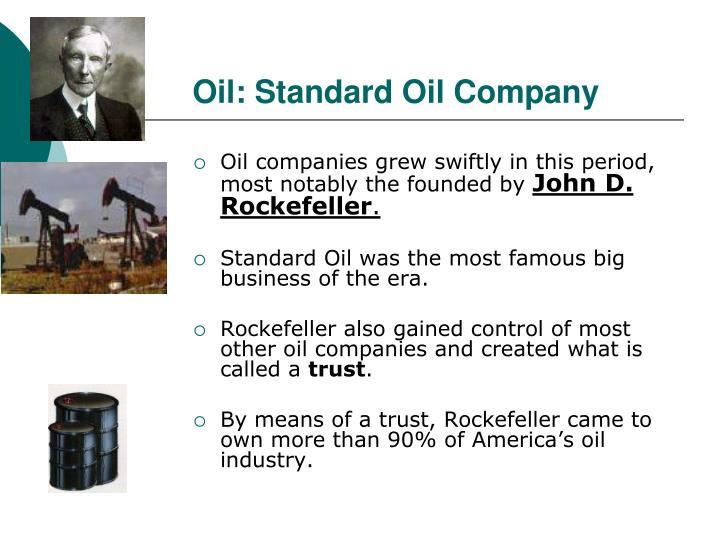 Oil: Standard Oil Company