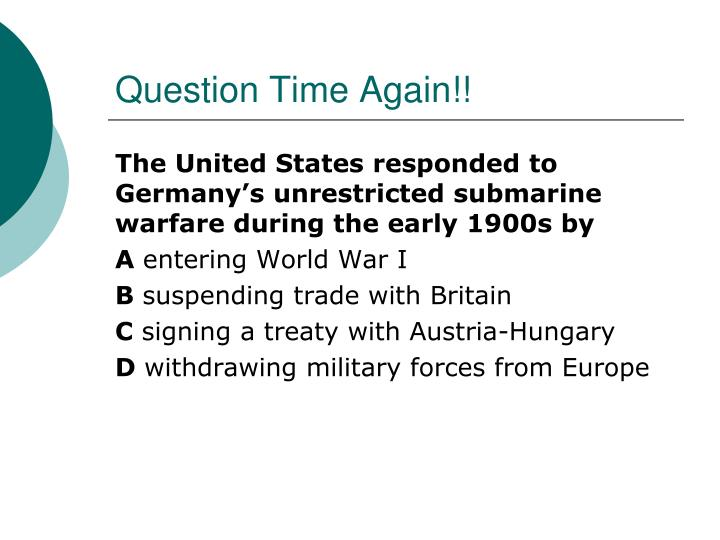 Question Time Again!!