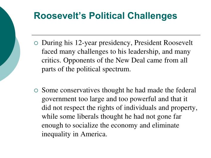 Roosevelts Political Challenges