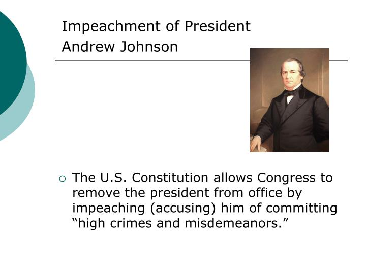 Impeachment of President