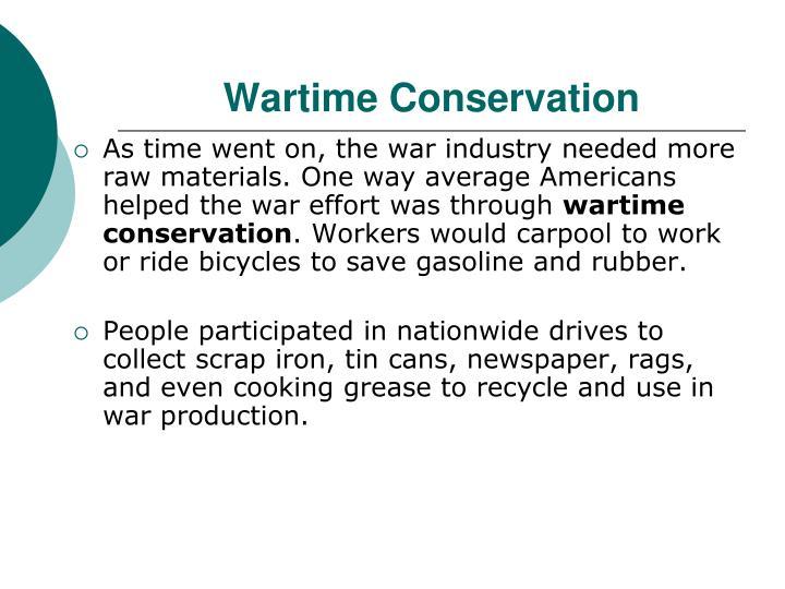 Wartime Conservation