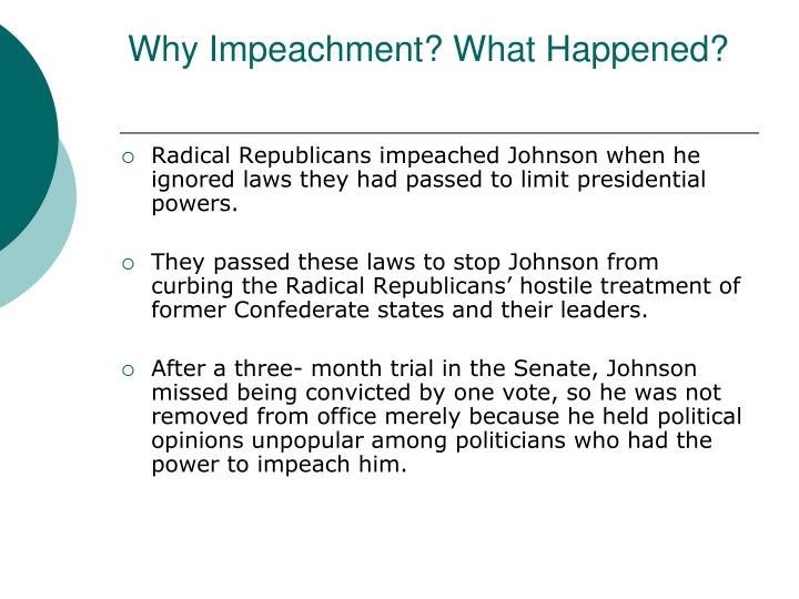 Why Impeachment? What Happened?