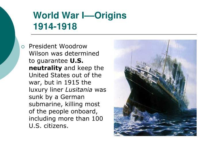 World War IOrigins