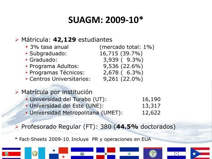 SUAGM: 2009-10*