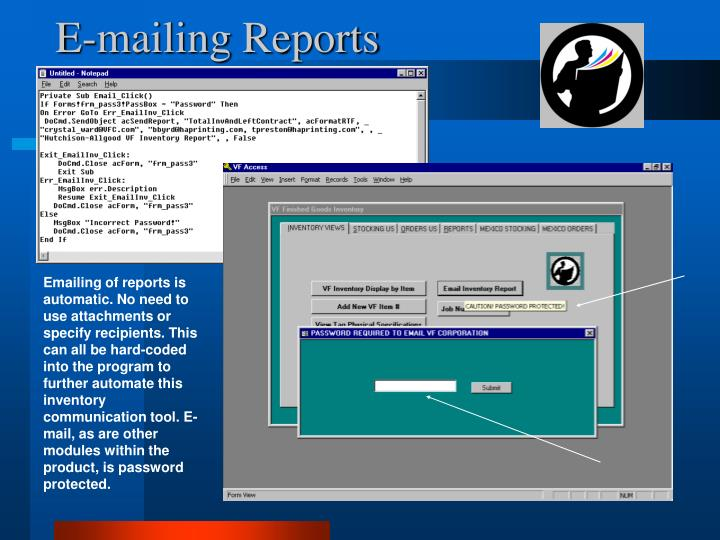 E-mailing Reports