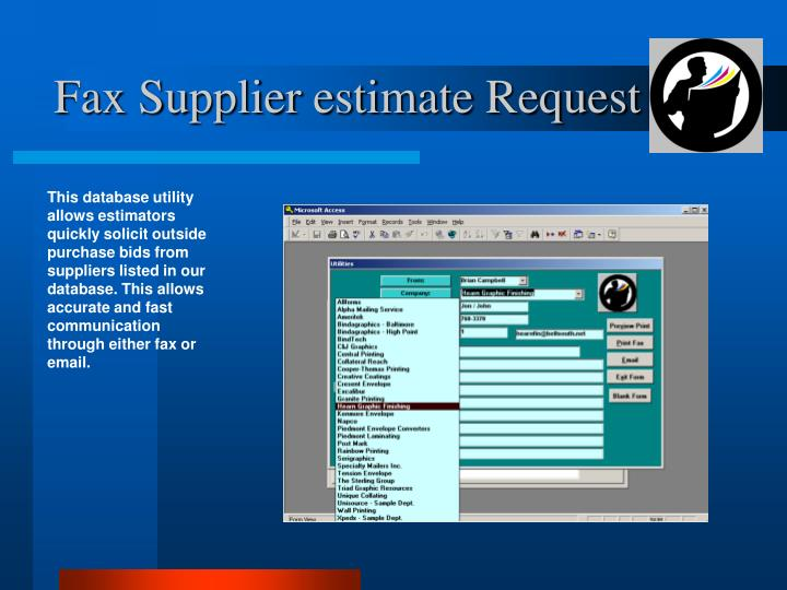 Fax Supplier estimate Request