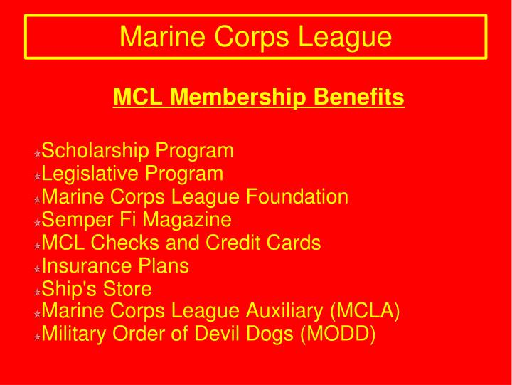 MCL Membership Benefits