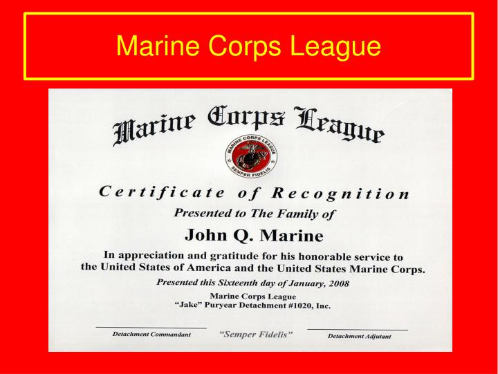 Marine Corps League