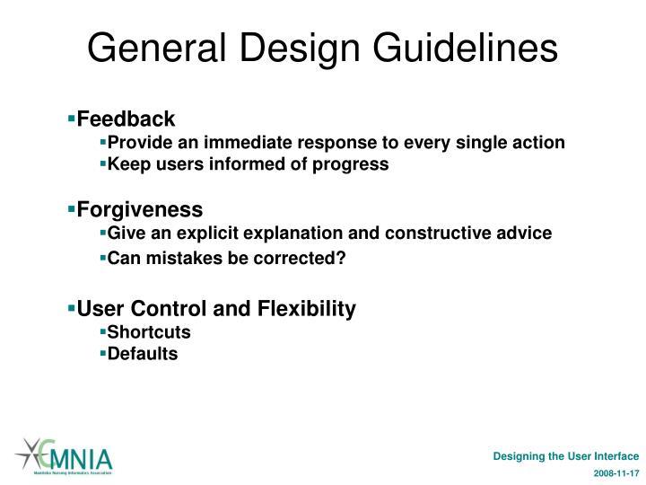 General Design Guidelines