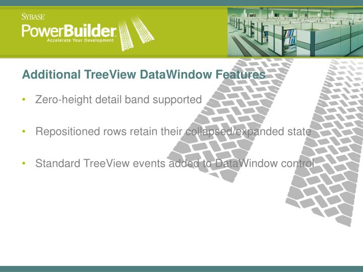 Additional TreeView DataWindow Features