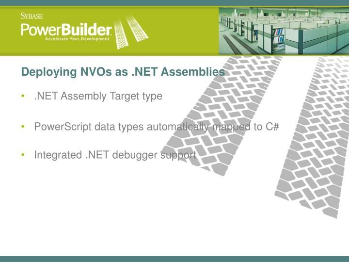 Deploying NVOs as .NET Assemblies