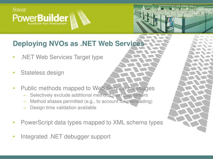 Deploying NVOs as .NET Web Services