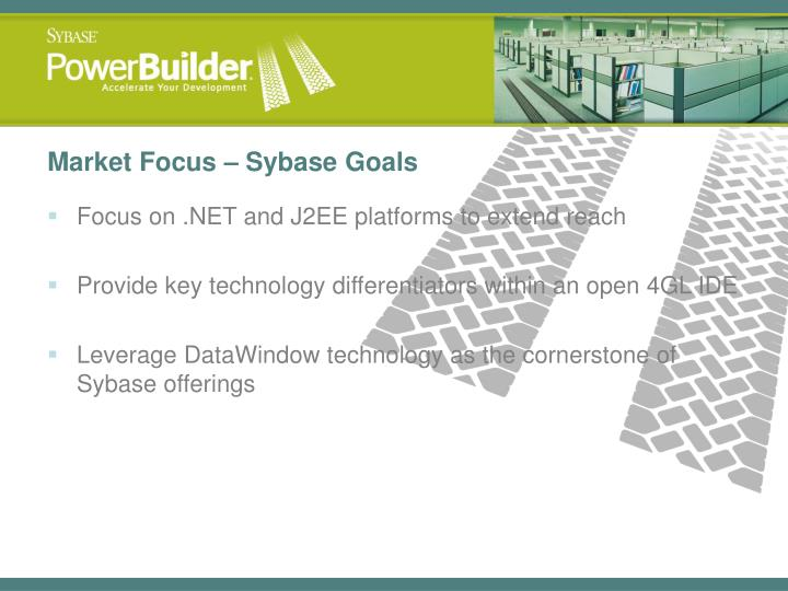 Market Focus – Sybase Goals