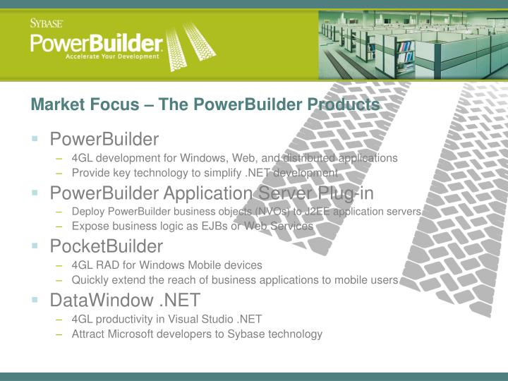 Market Focus – The PowerBuilder Products