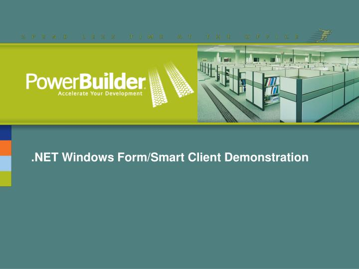 .NET Windows Form/Smart Client Demonstration