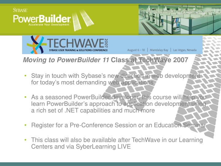 Moving to PowerBuilder 11