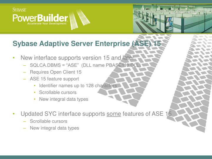 Sybase Adaptive Server Enterprise (ASE) 15