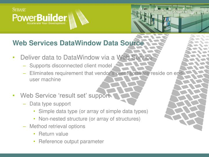Web Services DataWindow Data Source