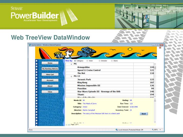 Web TreeView DataWindow