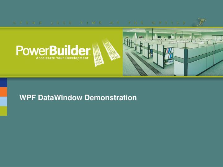 WPF DataWindow Demonstration