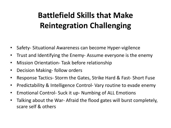 Battlefield Skills that Make