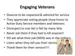 engaging veterans