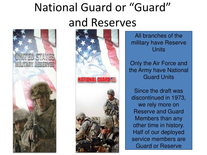 "National Guard or ""Guard"""