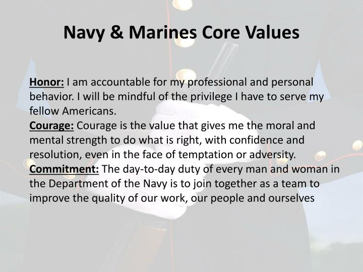 Navy & Marines Core Values