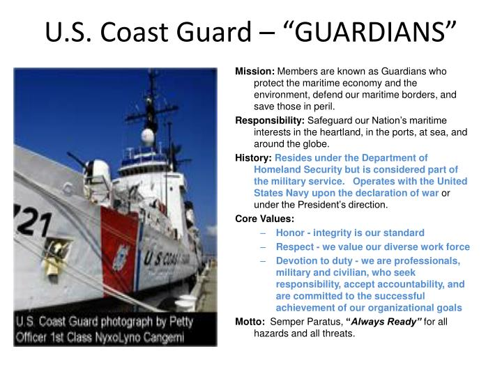 "U.S. Coast Guard – ""GUARDIANS"""